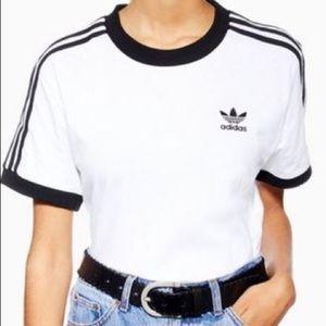 Adidas two striped t shirt